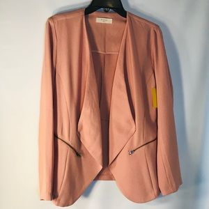 Anthropologie Elodie Blush Open Blazer-Sz XL